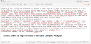 Comperia Analytics kod na stronę